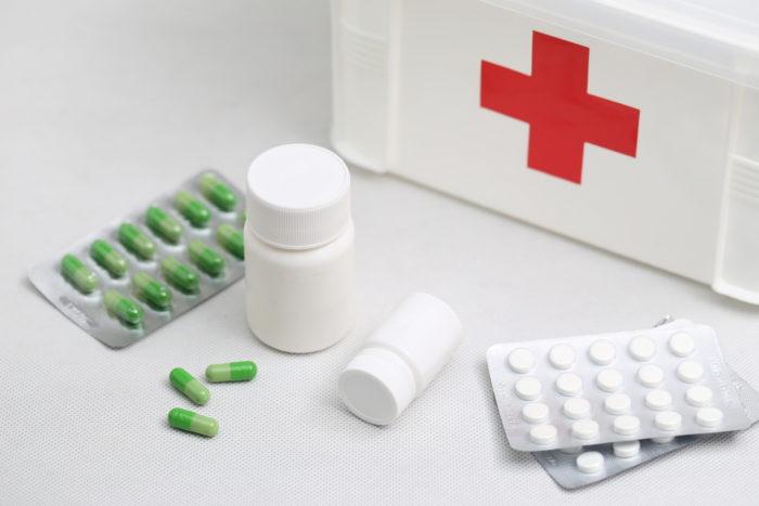 medicine pillole e box
